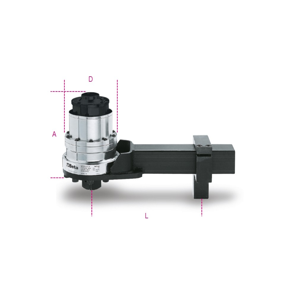 Torque multiplier for right-hand and left-hand tightening, ratio 125:1, with