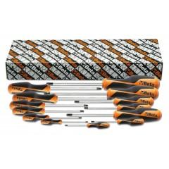 Serie di 13 chiavi maschio con impugnatura per viti con impronta Torx  (art. 1267TX) - Beta 1267TX/S13