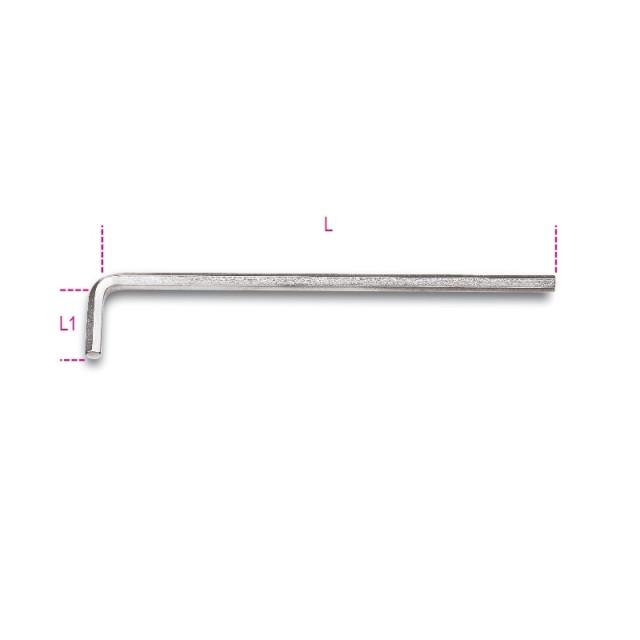 Chiavi maschio esagonale piegate tipo lungo, cromate - Beta 96LC