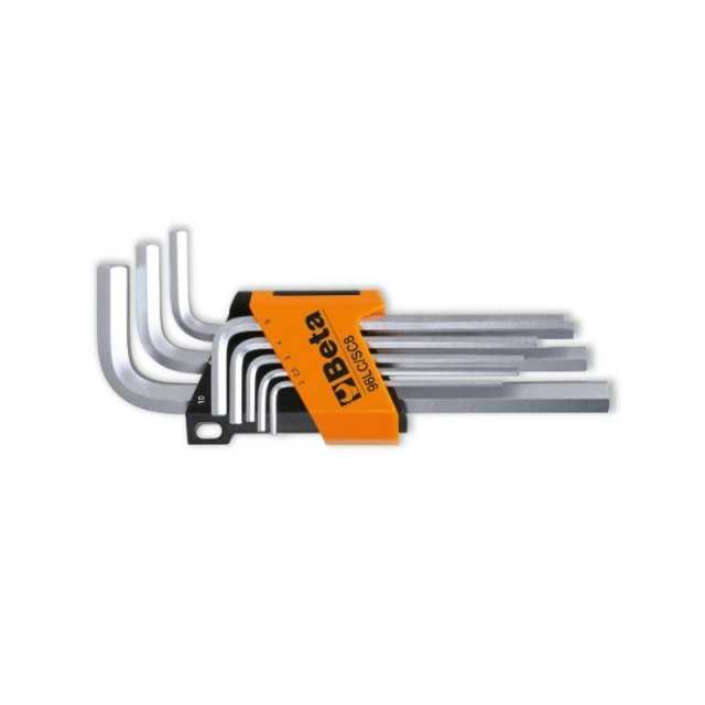 Serie di 8 chiavi maschio esagonale, tipo lungo - Beta 96LC/SC8