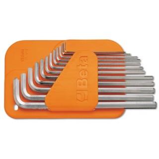 Serie di 12 chiavi maschio esagonale piegate tipo lungo (art 96LC) - Beta 96LC/SC12
