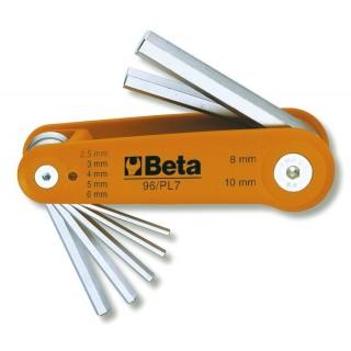 Serie di 7 chiavi maschio esagonale piegate (art. 96) - Beta 96/BG7