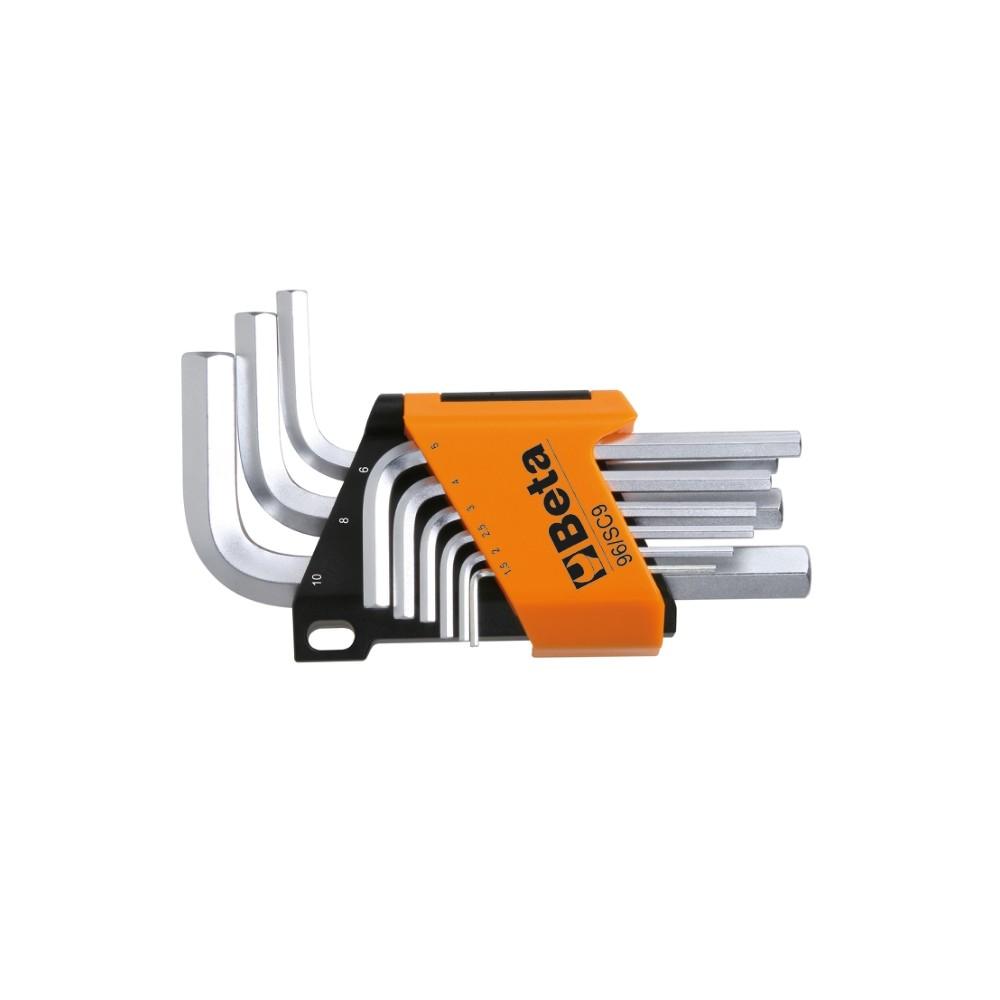 Serie di 9 chiavi maschio esagonale piegate - Beta 96/SC9