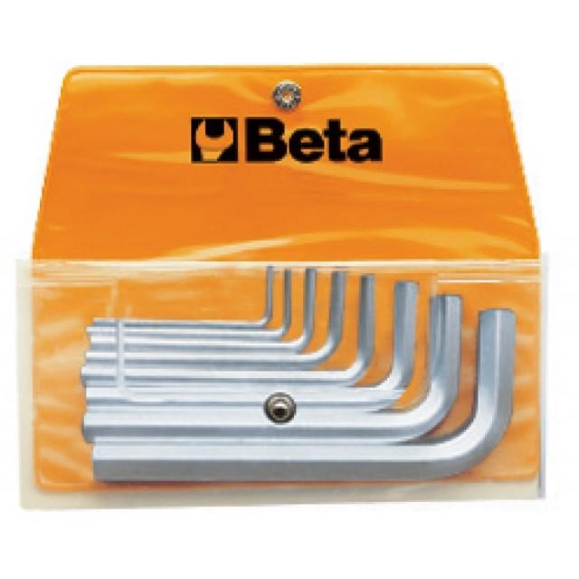 Serie di 8 chiavi maschio esagonale piegate (art. 96) in busta - Beta 96/B