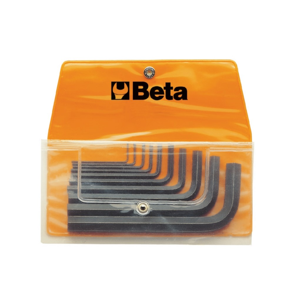 Serie di 10 chiavi maschio esagonale piegate (art. 96N) in busta - Beta 96N/B