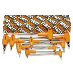 Serie di 8 chiavi maschio esagonale piegate con impugnatura di manovra (art. 96T/AS) - Beta 96T/AS