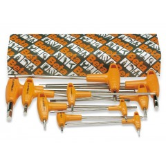 Serie di 10 chiavi maschio esagonale piegate con impugnatura di manovra (art. 96T/AS) - Beta 96T/AS