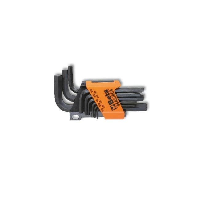 Serie di 9 chiavi maschio esagonale piegate brunite - Beta 96AS/SC9