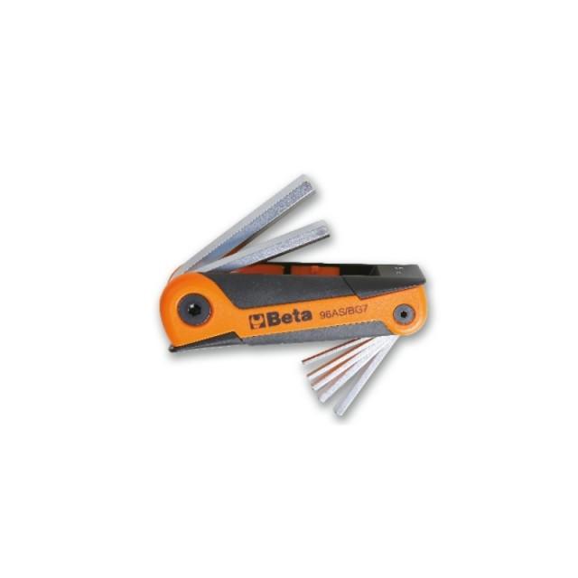 Serie di 7 chiavi maschio esagonale piegate (art. 96AS) - Beta 96AS/BG7