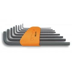 Serie di 8 chiavi maschio esagonale piegate tipo lungo (art. 96L) con supporto - Beta 96L/SP8