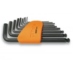 Serie di 9 chiavi maschio esagonale piegate con estremità sferica con supporto - Beta 96BP/SC9