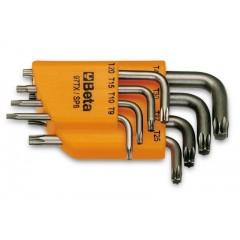 Serie di 8 chiavi maschio piegate per viti con impronta Torx  (art. 97TX) con supporto - Beta 97TX/SC8