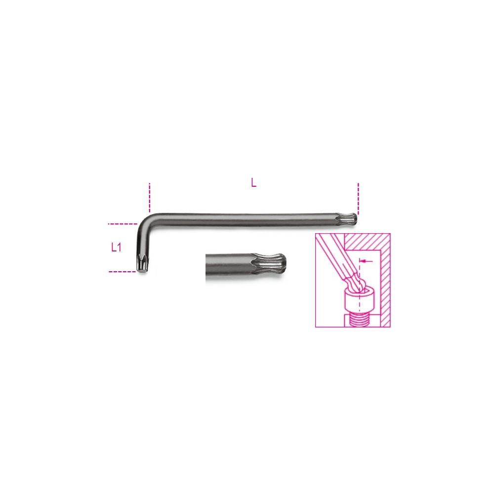 Hajlított gömbfejű Torx®-imbuszkulcs, barnított - Beta 97BTX
