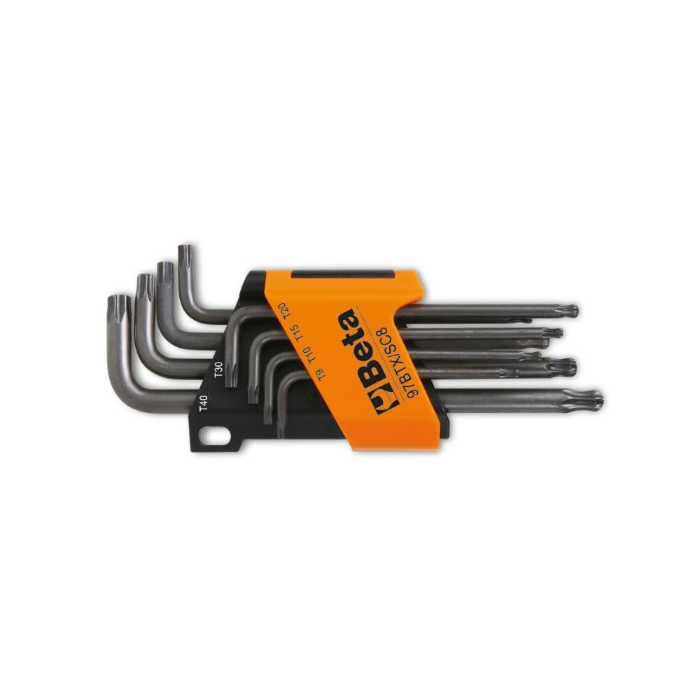 Serie di 8 chiavi maschio piegate con un'estremità sferica per viti con impronta Torx  - Beta 97BTX/SC8