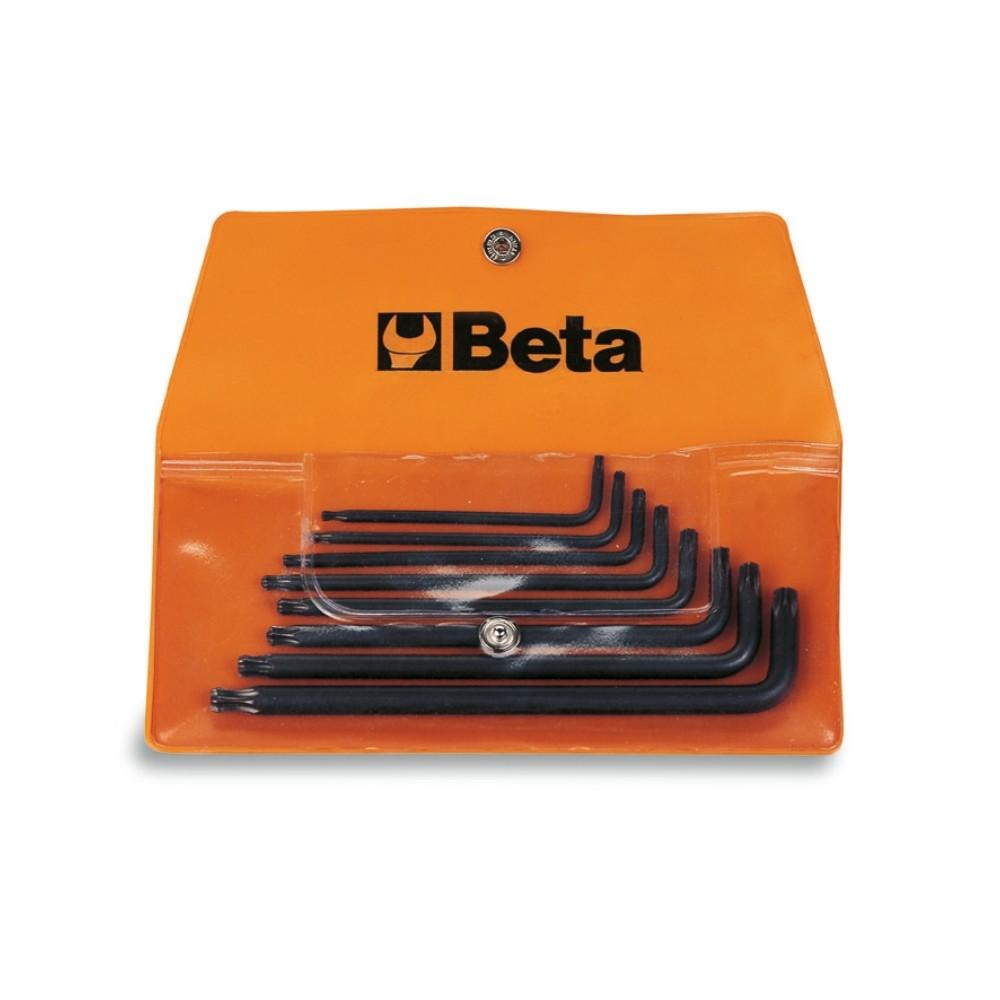 Serie di 8 chiavi maschio piegate per viti con impronta Tamper Resistant Torx  (art. 97RTX) in busta - Beta 97RTX/B