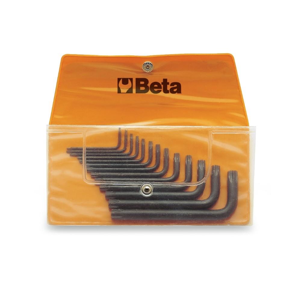 Serie di 13 chiavi maschio piegate per viti con impronta Torx  (art. 97TX) in busta - Beta 97TX/B