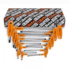 Serie di 11 chiavi maschio piegate con impugnatura per viti con impronta Torx  - Beta 97TTX/S