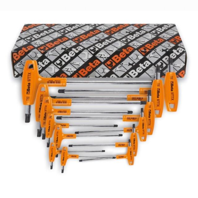 Serie di 13 chiavi maschio piegate con impugnatura per viti con impronta Torx(R) - Beta 97TTX/S