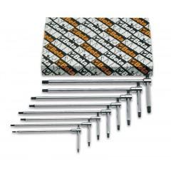 Serie di 8 chiavi a T con tre estremità maschio esagonale (art. 951) - Beta 951/S