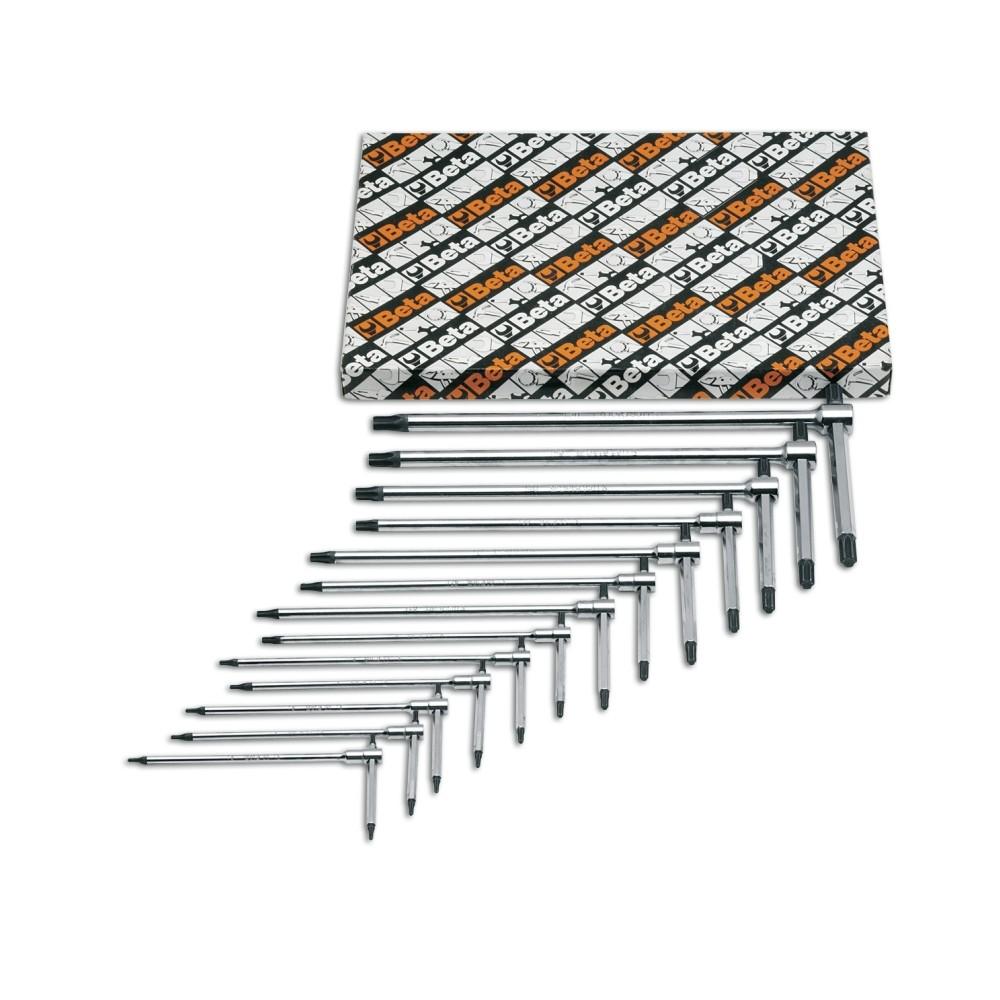 Serie di 13 chiavi maschio piegate per viti con impronta Torx  - Beta 951TX/S