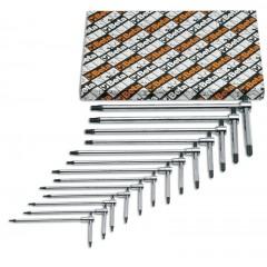 Serie di 6 chiavi maschio piegate per viti con impronta Torx(R) (951TX) - Beta 951TX/S