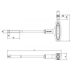 Hexagon / bi-hex socket wrenches, with high torque handles - Beta 941
