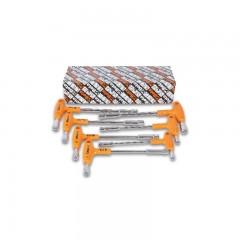 Serie di 7 chiavi a pipa esagonali-poligonali con impugnatura di manovra - Beta 941/S