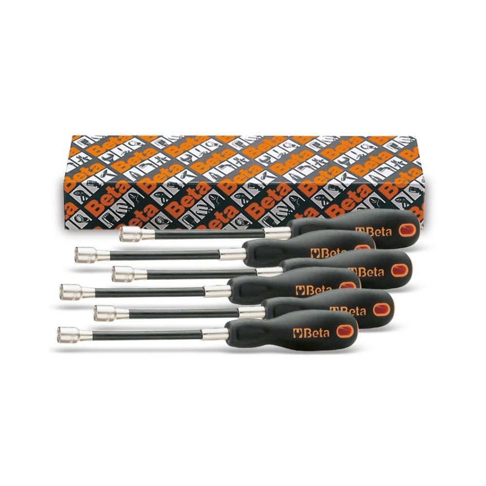 Serie di 6 chiavi a bussola esagonale flessibili con impugnatura (art. 943FL) - Beta 943FL/S