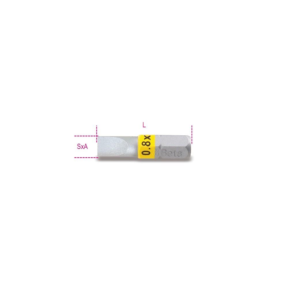 Inserti colorati per avvitatori per viti a testa con intaglio - Beta 860LP