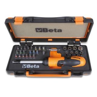 1 portainserti con impugnatura a criccheto reversibile, 27 inserti per avvitatori, 8 bussole esagonali e 2 a... - Beta 860/C38P