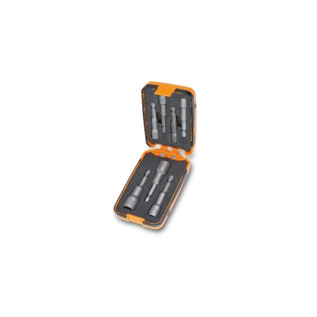 7 inserti per avvitatori chiavi a bussola esagonale magnetici, in astuccio tascabile - Beta 862F/A7