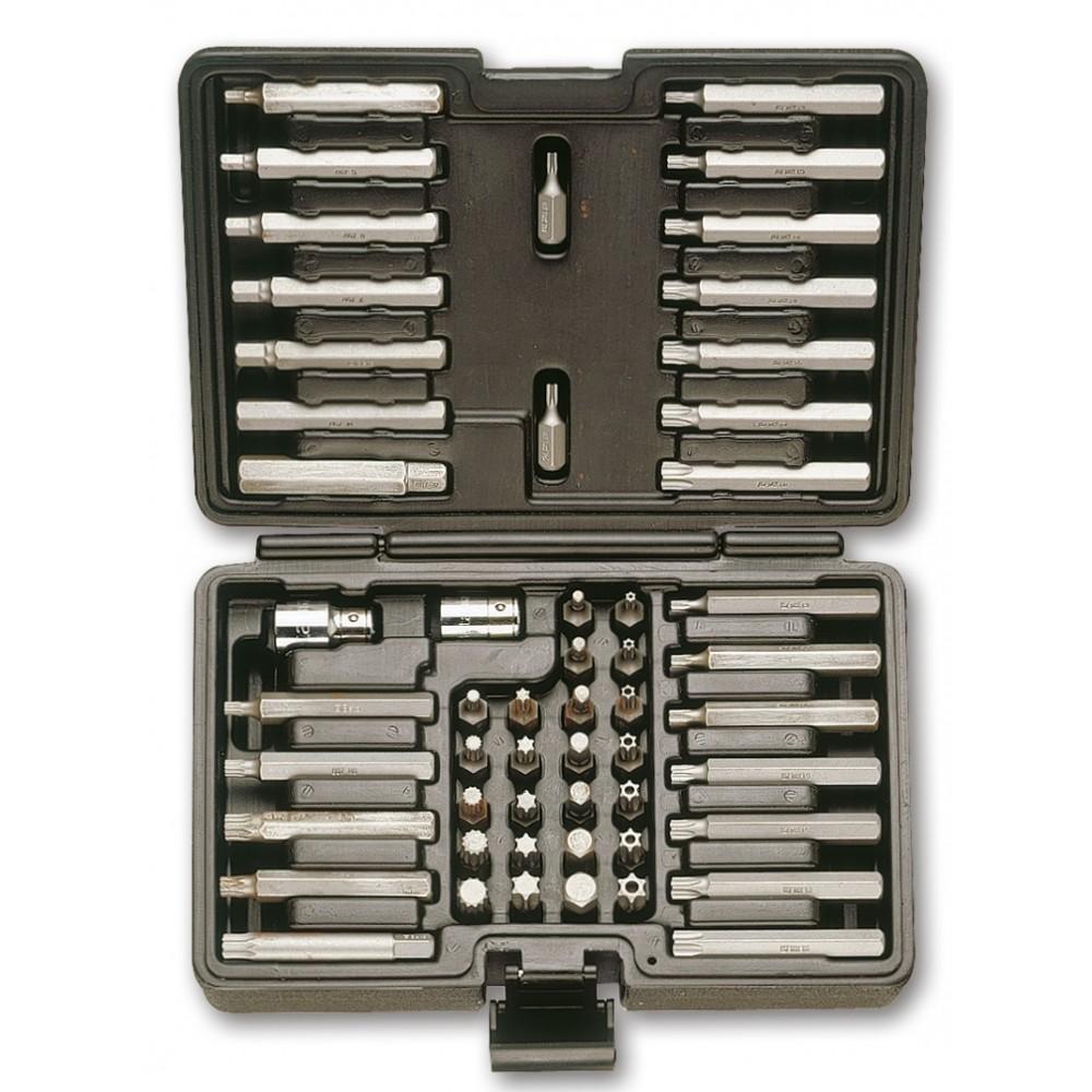 Coffret de 52 embouts avec entraînement  hexagonal de 10 mm et 2 accessoires - Beta 867/C52