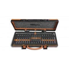 Assortimento di 38 inserti con attacco esagonale 10 mm e 1 portainserti a T snodato in termoformato morbido e... - Beta 867/C38
