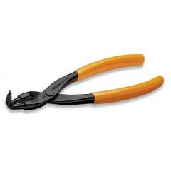 Pinze a becchi piegati a 90° per anelli elastici di sicurezza, per fori manici ricoperti in PVC - Beta 1034