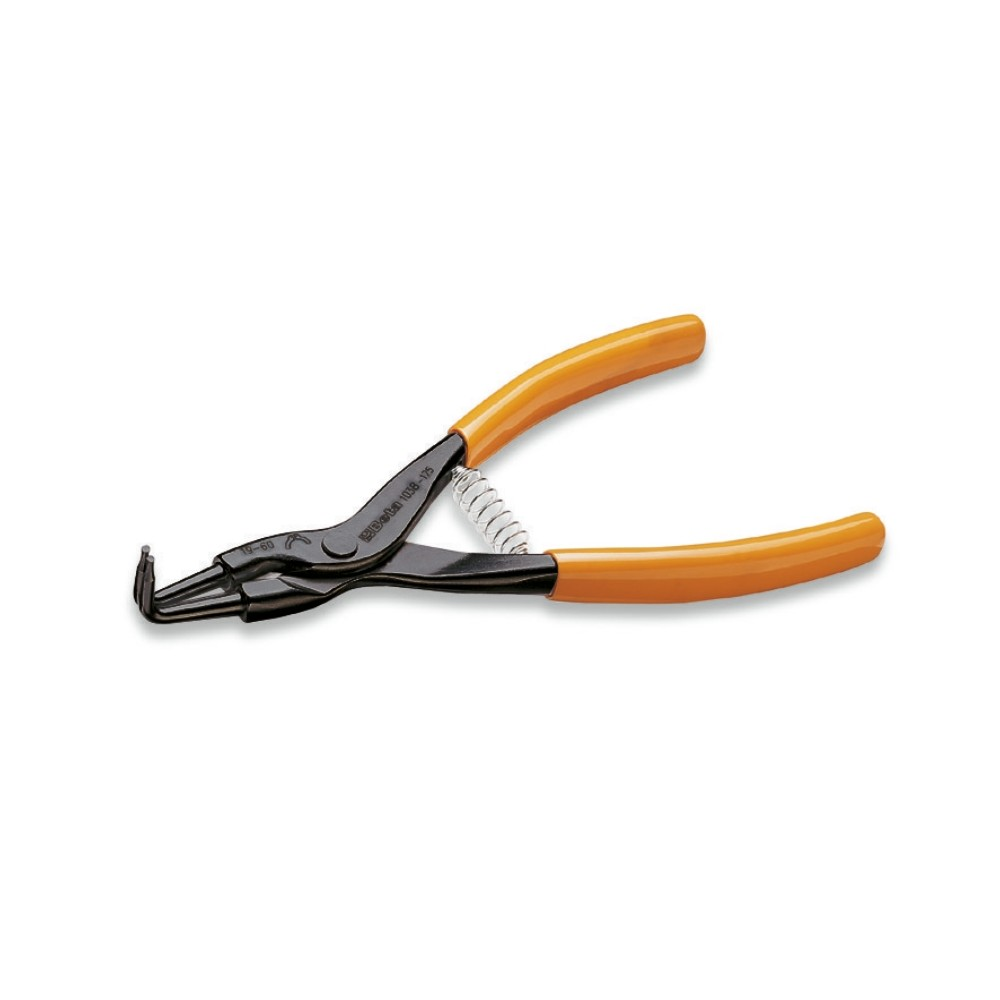 External circlip pliers, bent pattern, 90° PVC-coated handles - Beta 1038