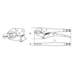 Állítható önzáró fogó, homorú pofájú, krómozott - Beta 1052