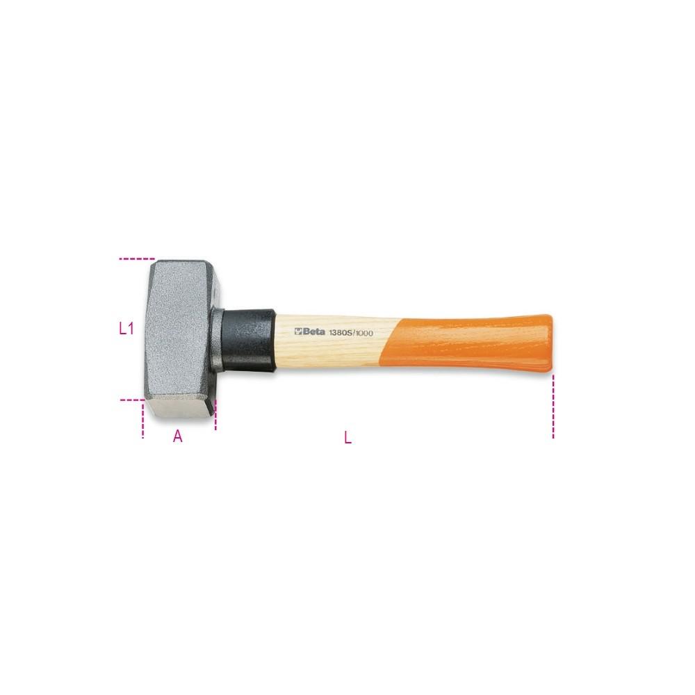 Mazzette con collare salvamanico manico in legno - Beta 1380S