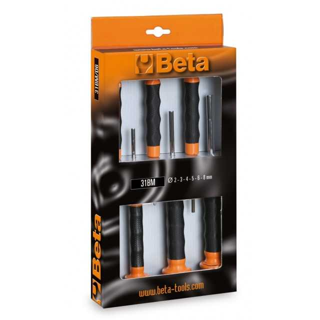 6 darabos kiütőkészlet, markolattal - Beta 31BM/D6