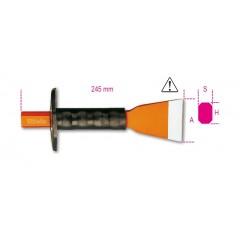 Scalpelli a tagliente extrapiatto con paramano - Beta 1702N/PM
