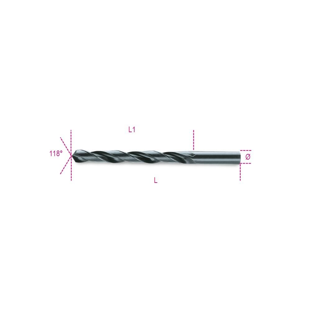 Punte elicoidali cilindriche serie corta in acciaio HSS rullate brunite - Beta 410