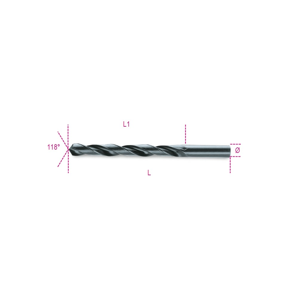 Twist drills with cylindrical shanks, short series HSS, rolled - Beta 410