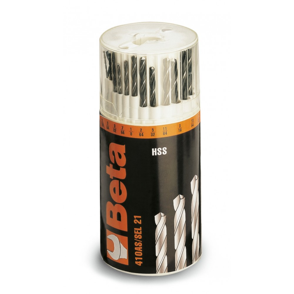 Serie di punte elicoidali cilindriche (art. 410AS) - Beta 410AS/SEL