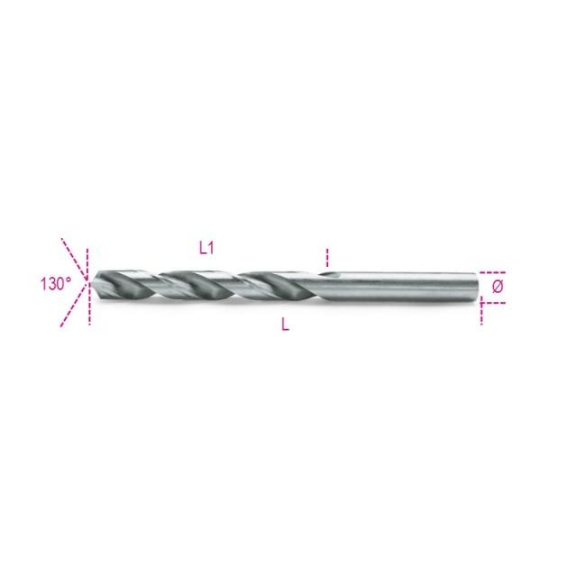Punte elicoidali cilindriche serie corta in acciaio HSS rettificate lucide - Beta 412