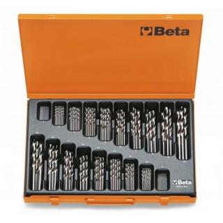 Serie di punte elicoidali cilindriche (art. 412) in cassetta - Beta 412/C150