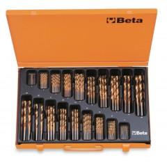 Serie di punte elicoidali cilindriche (art. 414) in cassetta - Beta 414/C116