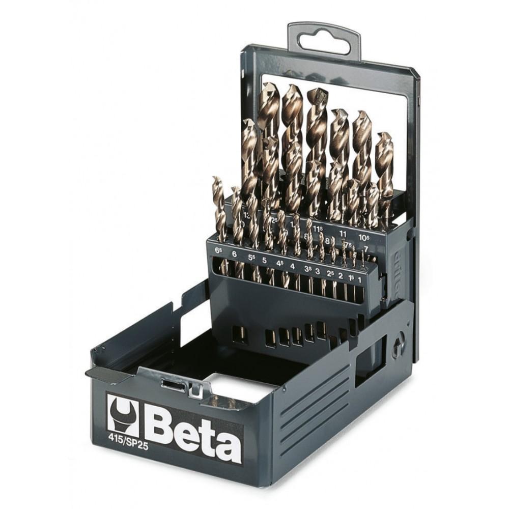 Serie di punte elicoidali cilindriche (art.415) in cassetta - Beta 415/SP