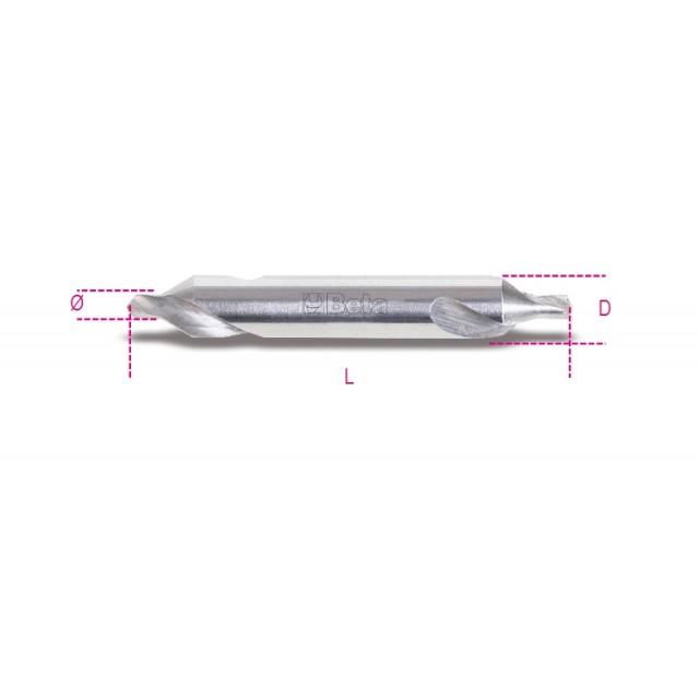 Foret à centrer rectifié avec angle de taraudage de 60° en acier HSS - Beta 422