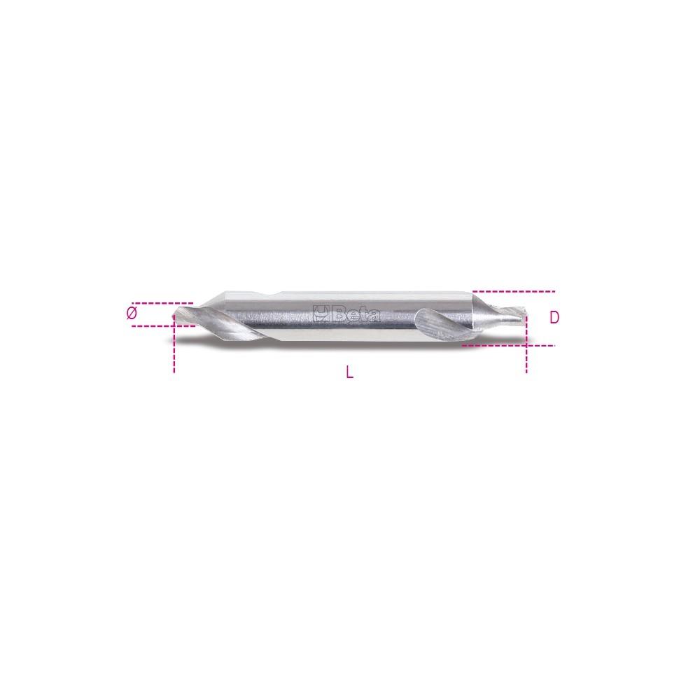 Punte a centrare rettificate angolo di svasatura 60° in acciaio HSS - Beta 422