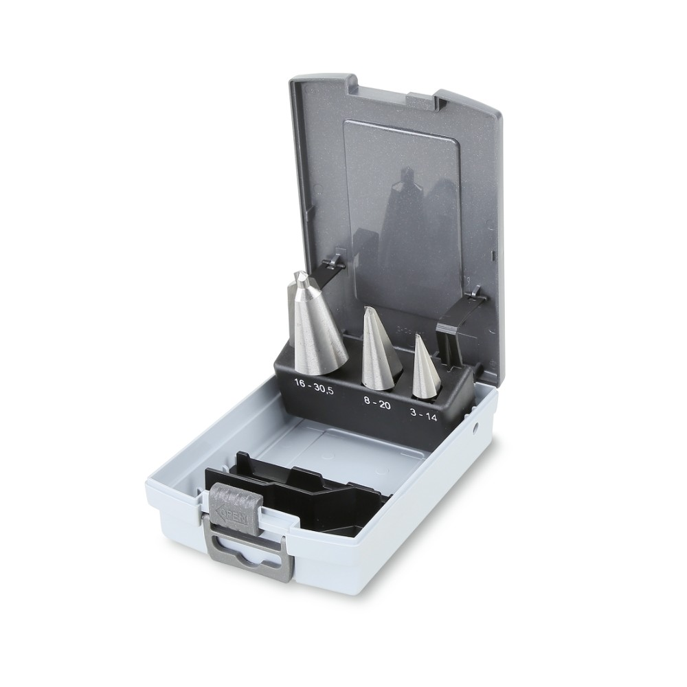 Serie di punte coniche per forare ed allargare (art. 424) in cassetta - Beta 424/SP