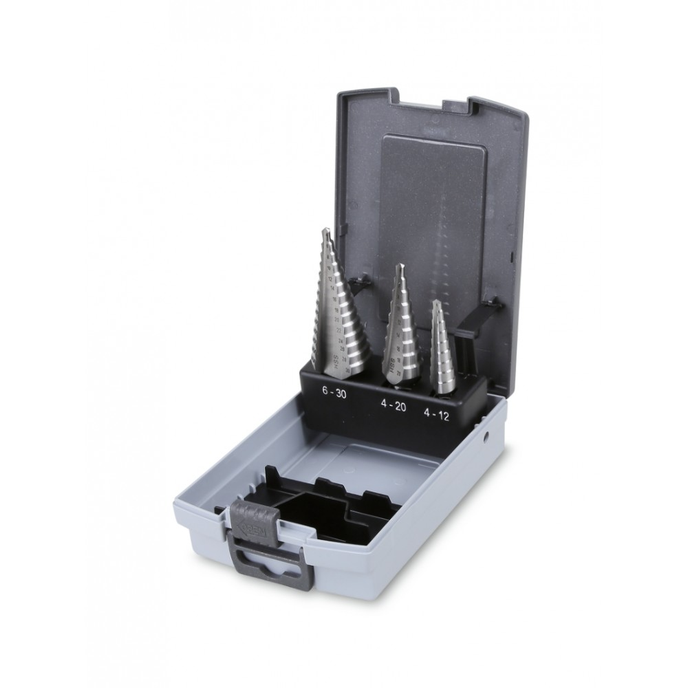 Serie di frese coniche a gradino (art. 425) in cassetta - Beta 425/SP